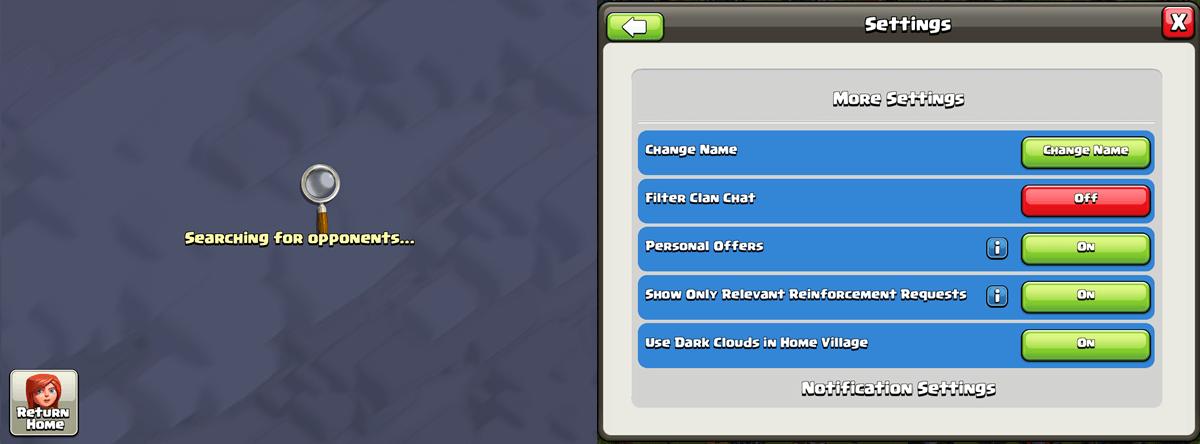 clash of clans update error