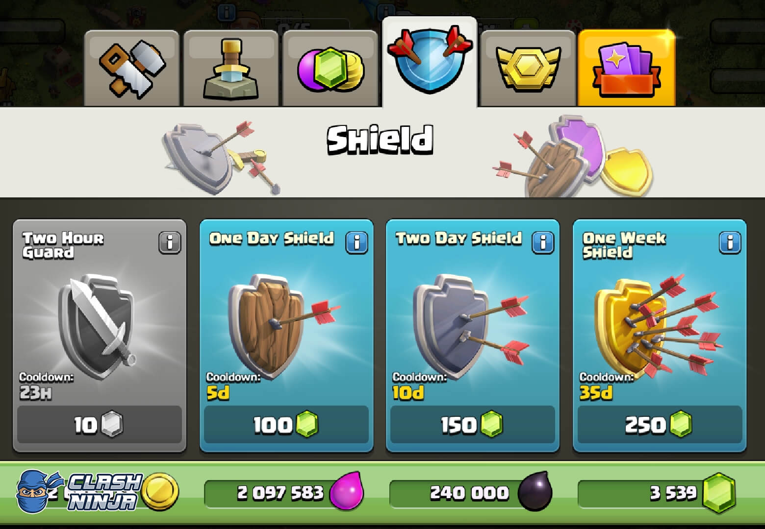 What are Shields and the Village Guard? - Clash Ninja